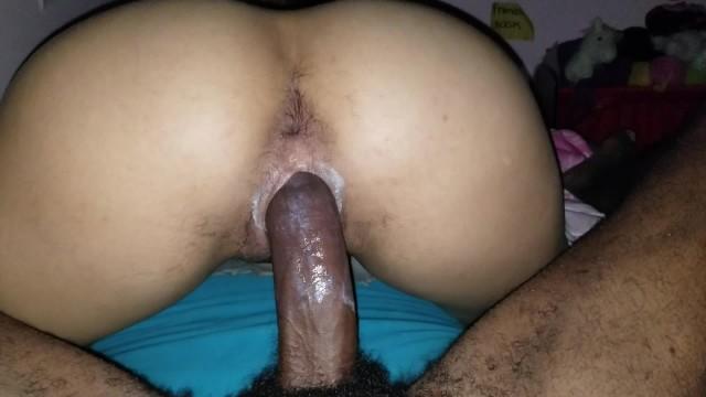Ebony Hairy Creamy Pussy