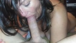 Lonely housewife eager to suck big cock