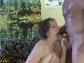 busty chubby milf first time anal fucked