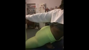 Empress Squirt Fat Booty Yoga Tease #SFW