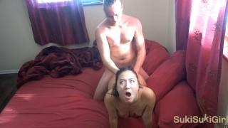 RAW uncut Sex with CUM ALL OVER HER FACE ( Sukisukigirl / @Andregotbars )