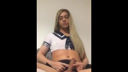 Solo Sissy Schoolgirl Masturbation