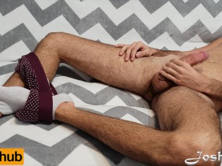 After Hard Jerk And Lot Of Cum On Hairy Chest Guess What Happened - 4k