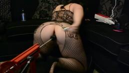 Horny slut tries new butt plug