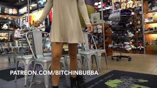 Hot Teen Upskirt in the Mall No Panties