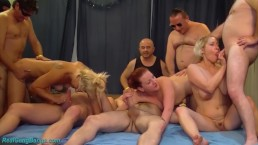 extreme german fist and fuck group orgy