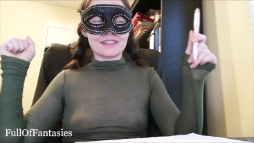 Genuine Cock Rating in a see thru long turtleneck.