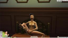 Tarrabyte plays The Sims 4 [Porn Hub] - 4play with a vampire
