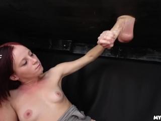 She gets SPLATTERED with Jizz - Petite girl VS Big Cock