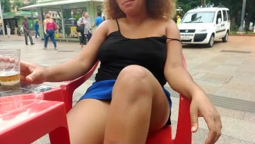 BBW EBONY FLASHING AT DONWTOWN AND DO PUBLIC BLOWJOB