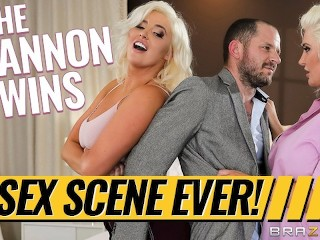 BRAZZERS - Karissa Shannon & Kristina Shannon share one lucky cock