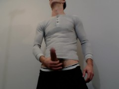 playing with my cock in sweats