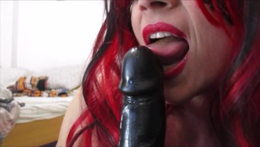 BBC Blowjob lessons - with cumshot