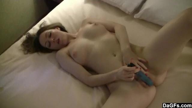 Pale anus Pale babe with nice tits masturbates