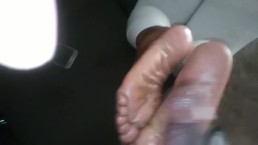 Friend let me cum on soles