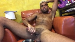 Web Cam jerk off and cum show with Sexy huge Cock