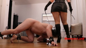 Slave in leash