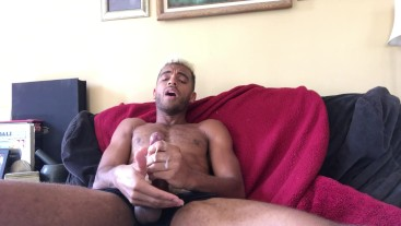 Intense hot cumshot from thick Huge Cock
