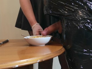 First Time xxx: Beta Male Husband first time mummified, punished & milked before breakfast