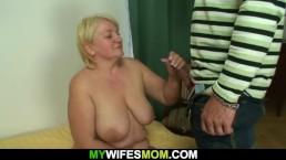 Hung guy fucks big tits blonde mother inlaw