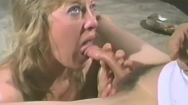 Blonde wife toys all of her holes before sucking a cock