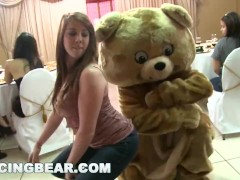 DANCING BEAR - A Bunch Of Horny Women Suck Male Stripper Dicks At A Party