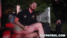 GAY PATROL - Homie Takes The Easy Way, Gives Up His Black Ass To The Cops