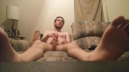 Masturbation feet view