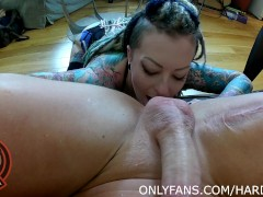 Luke Hardy Gets messy BJ and RIMMED by 2 HOT ALT girls!