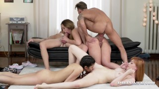 New Cummer Brianna Bounce Stars in Orgy With Penelope Cum & Anny Aurora
