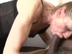 Granny interracial hardcore sex getting double penetrated because she hot