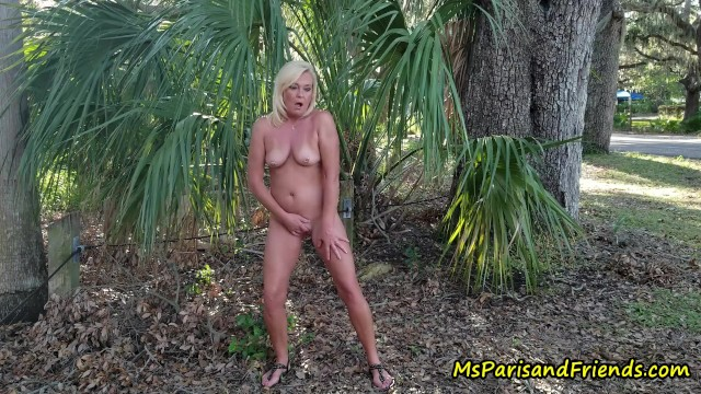 Video naked stripping Stripping naked in the park
