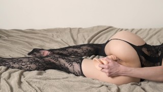 Hot Liza Shultz masturbations with her dildo