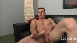Hung and Cut Axel Johnson Jerks Massive Meat Sticke