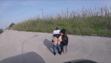 groping girlfriend on the street
