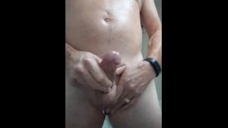 Play With My Hard Cock Oiling Up With Coconut Oil And Cumming