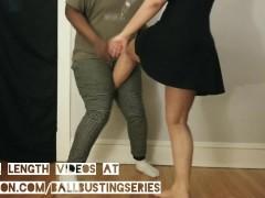 Koshii Sexy Barefoot Ballbusting