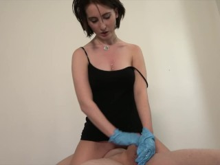 White Patches On Head Of Penis Gloves Handjob With Shy Teen Lia Louise, Amateur Cumshot Fetish Porns
