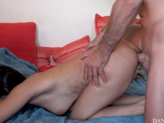 Insane couple fuck hard, she cries after intense squirt!