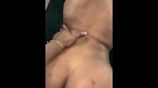 Sexy ebony queefs on cock