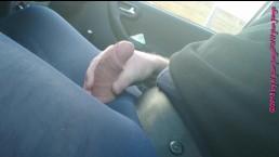 Blaue Feinstrumpfhose im Auto 2 ** FAN Video 12 **