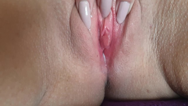 Pantyhose up my vagina Playing with my wet pussy till i cum