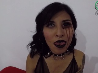 Goth latin girl with sclera fucking and crampie