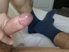 Verbal dad edges and cums wearing socks [4k]