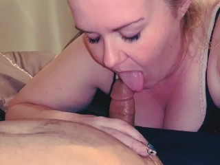 Naked Belinda Naughty amateur wife gives husband blowjob and swallows his load