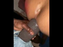 Regular fuckbuddy fucks me with my favorite dildo of Mr Hankeys El Ray L