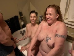 Older Piss Whore Teaches young slut about watersport