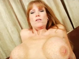 Hardcore Mom Darla Crane Gets Titty Fucked and Takes A Load On Her Stomach