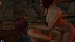 Human Futa Fun in Goldshire Warcraft Futa x Futa