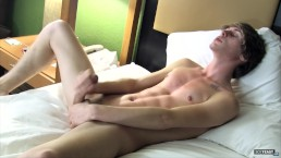 Hot twink Cooper rubbing one out when he is home alone
